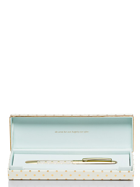 Kate Spade Something To Write Home About Ballpoint Pen, Gold Dots