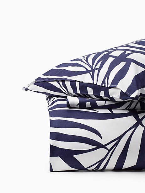 Kate Spade Palm Fronds Comforter Set, Navy - Size KING