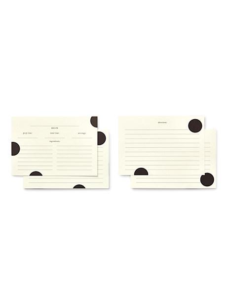 Kate Spade Deco Dot Recipe Card Refills, Black