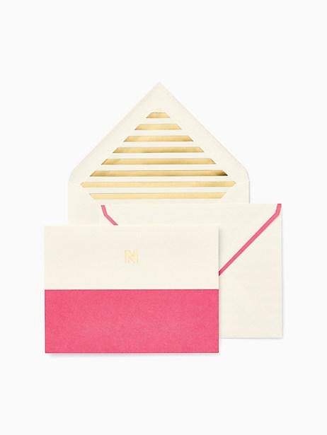 Kate Spade Initial Notecard Set, n