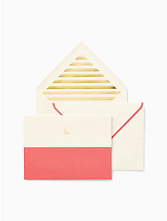 initial notecard set by kate spade new york