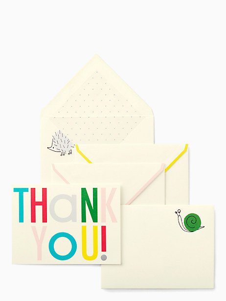 hey baby thank you notecard set by kate spade new york