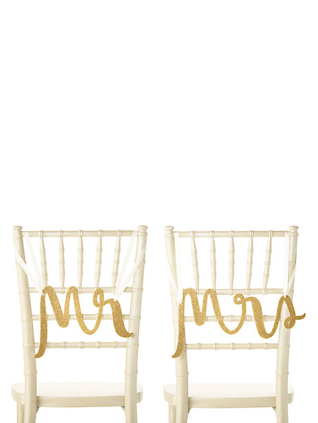mr. and mrs. chair signs by kate spade new york