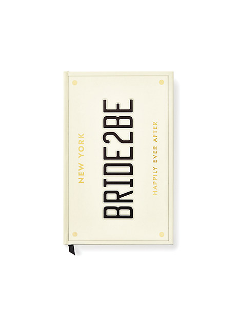 bride2be notebook by kate spade new york