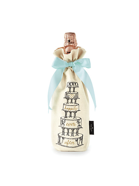 Kate Spade Happily Ever After Wine Tote, Natural