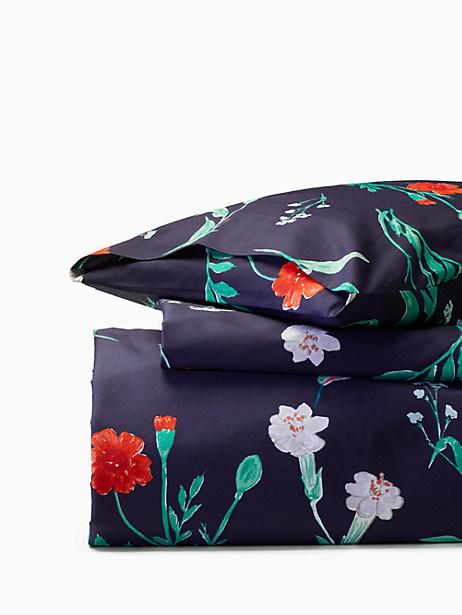 Kate Spade Hummingbird comforter set, Navy - Size FULL/QUEEN