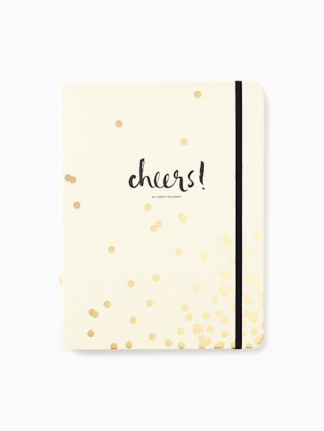 Kate Spade Gold Confetti Dot Party Planning Book