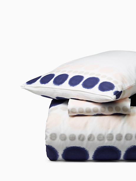 Kate Spade Ikat Dot Comforter, Blush/Navy - Size KING