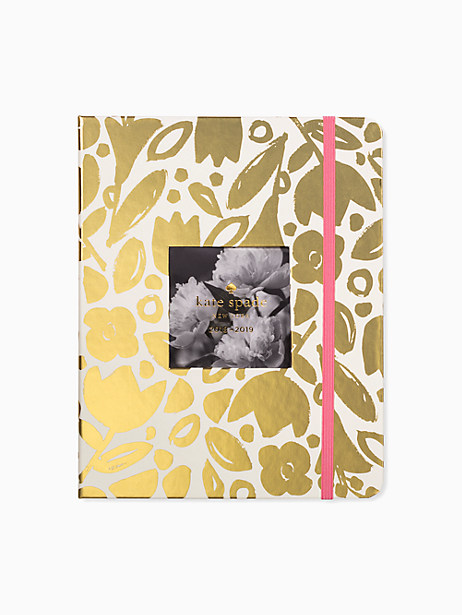 Kate Spade Golden Floral Large Planner - August 2018-august 2019, Gold