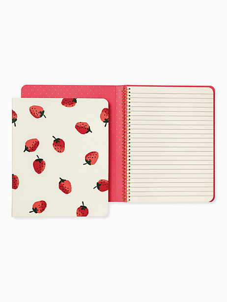 Strawberries Concealed Spiral Notebook by kate spade new york