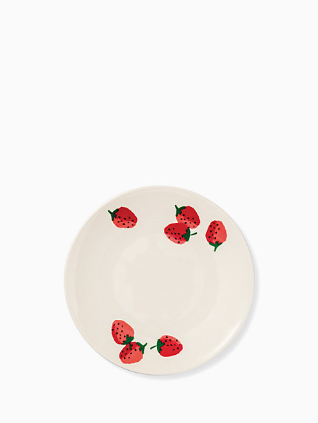 strawberries melamine accent plate by kate spade new york