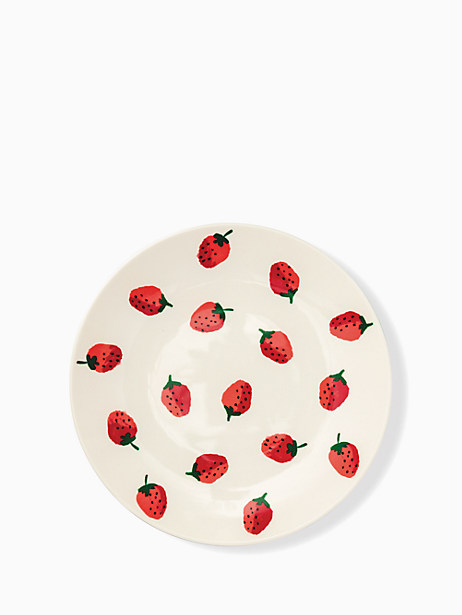 strawberries melamine dinner plate by kate spade new york