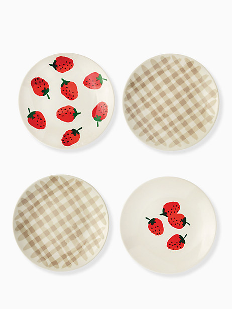 strawberries melamine tidbit plate set by kate spade new york