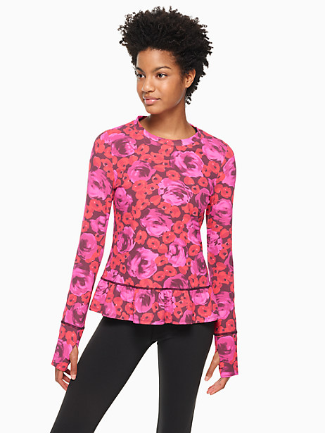 Kate Spade Electric Rose Pullover, Sumac - Size L