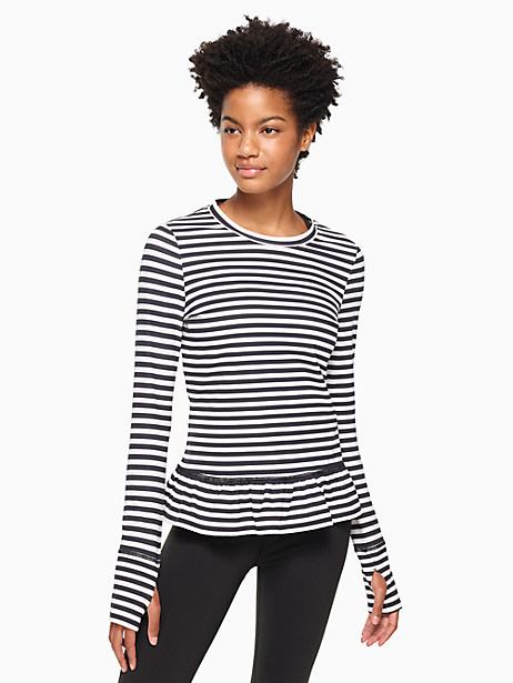 stripe ruffle pullover by kate spade new york