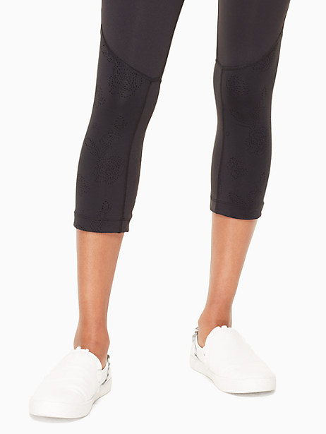 floral laser cut legging by kate spade new york