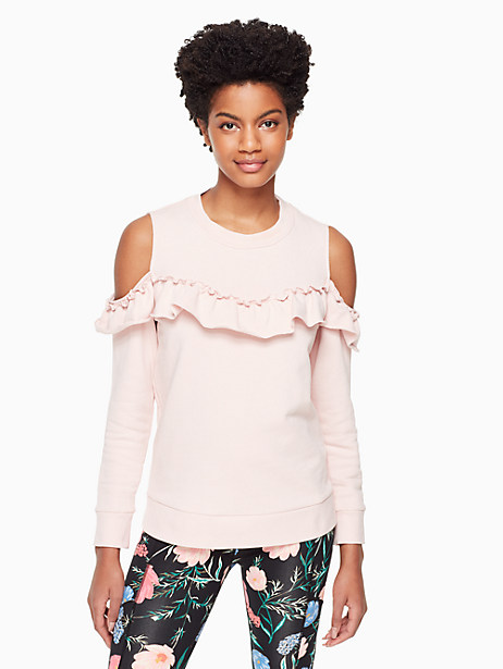 cold shoulder sweatshirt by kate spade new york