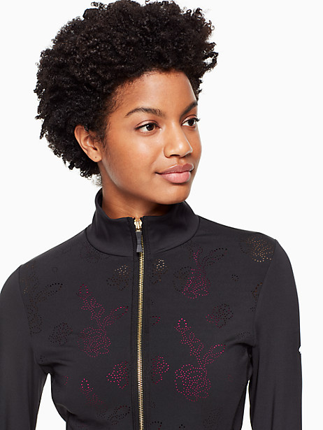 floral laser cut jacket by kate spade new york