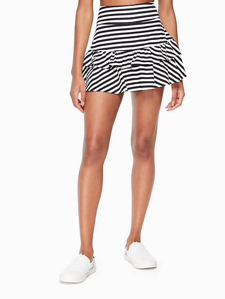 stripe ruffle tennis skirt by kate spade new york