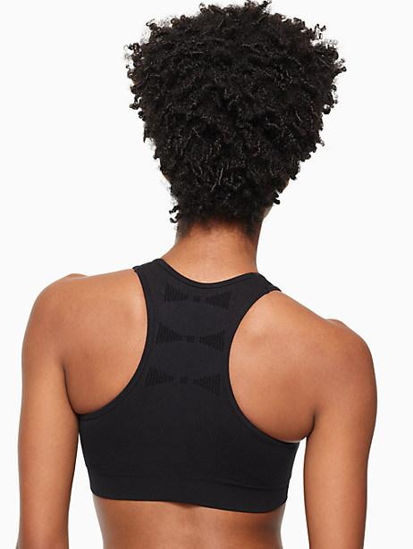 jacquard bow sports bra by kate spade new york