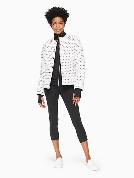 Reversible Quilted Jacket, Cream/Black - Size M