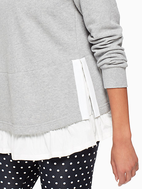 ruffle pullover hoodie by kate spade new york