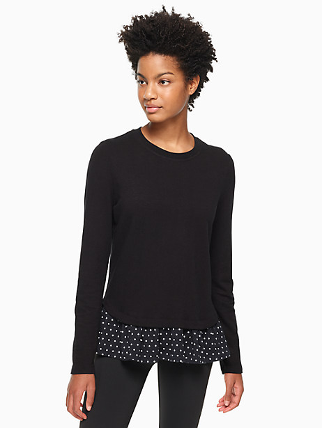 ruffle hem top by kate spade new york
