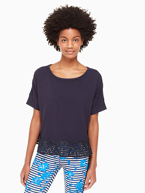eyelet flounce pullover by kate spade new york