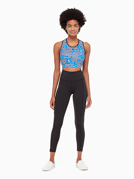hibiscus stripe sports bra by kate spade new york