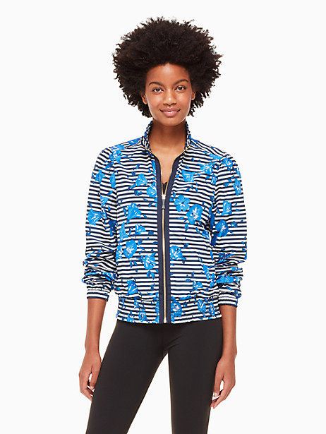 hibiscus stripe jacket by kate spade new york