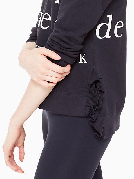 logo ruffle pullover by kate spade new york