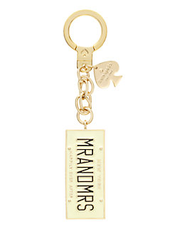 mr. and mrs. keychain by kate spade new york