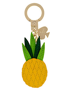 leather pineapple keychain by kate spade new york