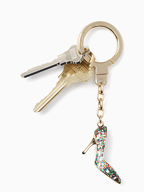 glitter shoe keychain by kate spade new york