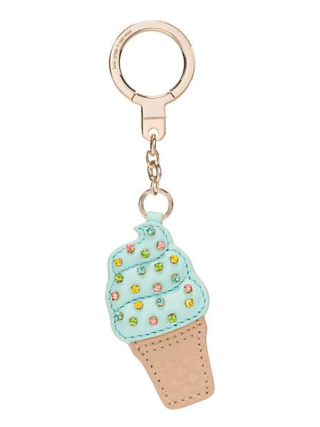 Kate Spade Ice Cream Cone Keychain