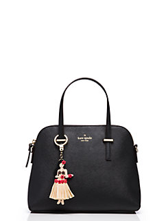 leather hula girl keychain by kate spade new york