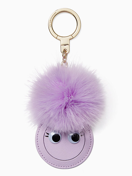 Kate Spade Mirror Monster Keychain, Blue Violet