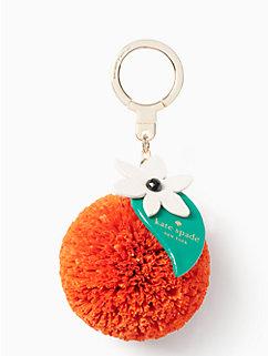 raffia orange keychain by kate spade new york
