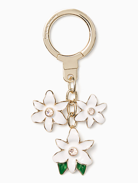 Kate Spade Enamel Flower Keychain, White