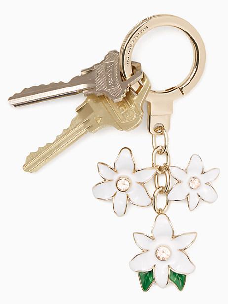 enamel flower keychain by kate spade new york
