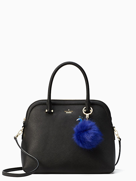 peacock pouf keychain by kate spade new york