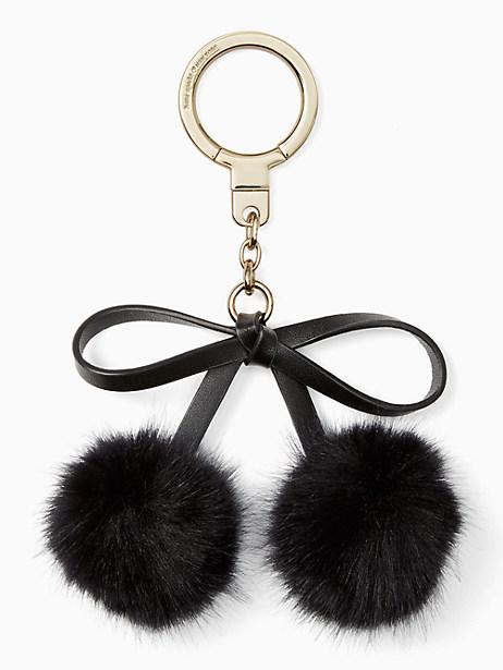 bow pom keychain by kate spade new york