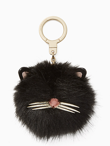 cat pouf keychain by kate spade new york