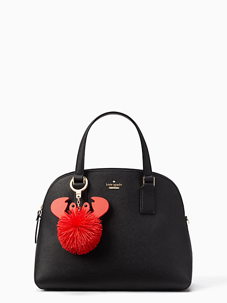 crab pouf keychain by kate spade new york