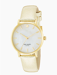 gold saffiano metro by kate spade new york