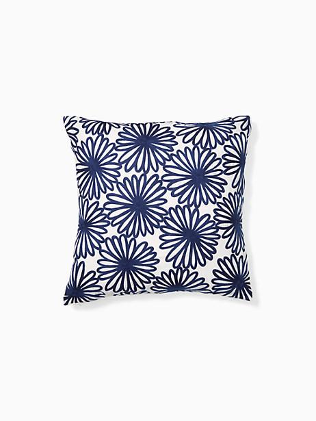 Kate Spade Daisy Crewel Pillow, Navy - Size 20