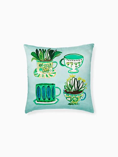 Kate Spade Tea Party Pillow, Green - Size 20