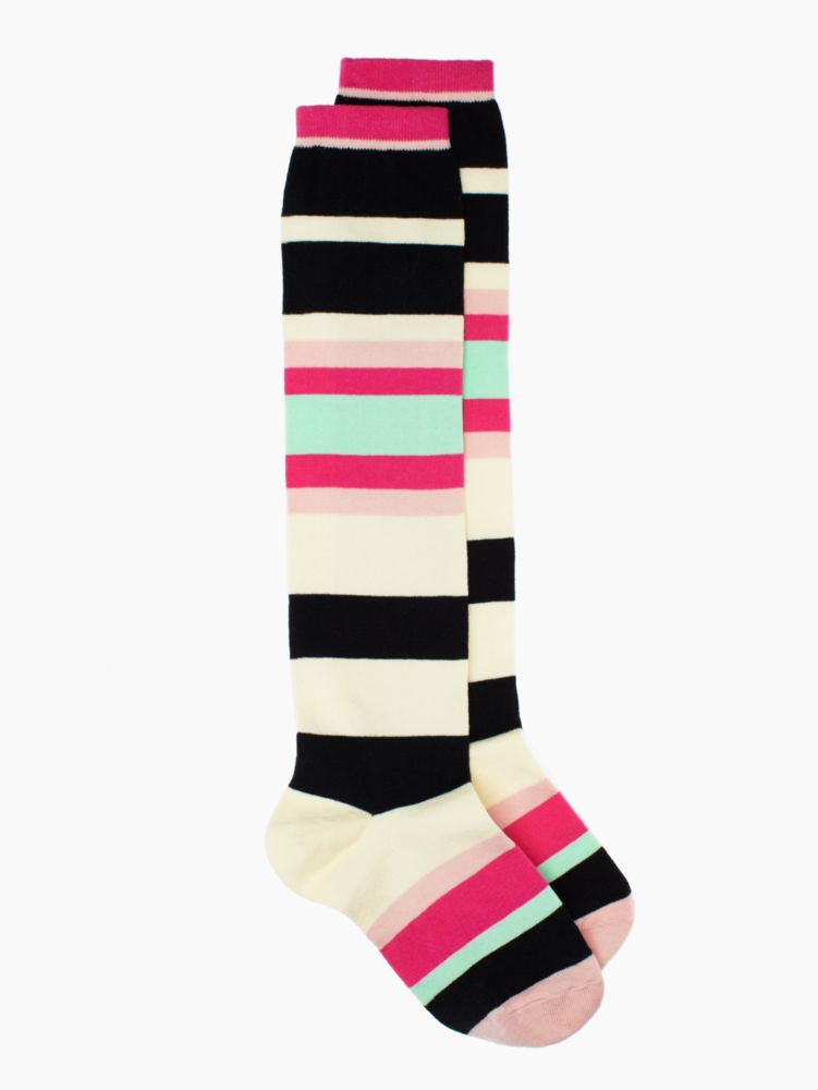 crazy stripe knee high sock
