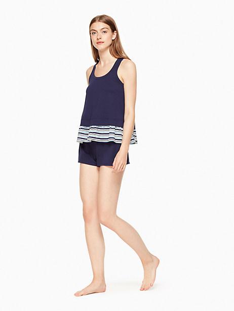 Kate Spade Short Pj Set, Textured Stripe - Size L