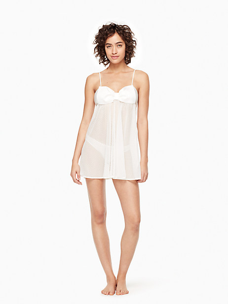 Kate Spade 2-piece Dot Chemise, Off-White - Size L